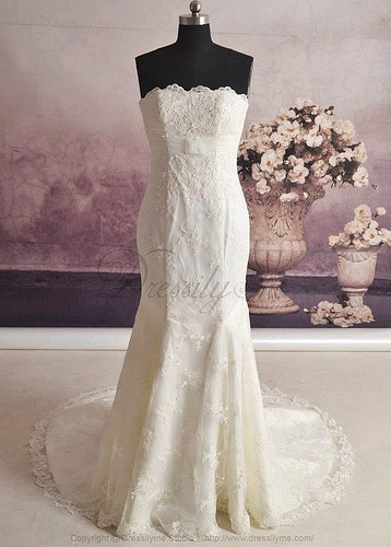 lace wedding photo